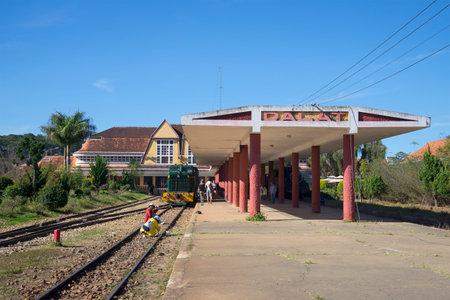 dalat: DALAT, VIETNAM - DECEMBER 27, 2015: On the platform of the railway station of Da Lat