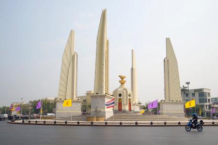 democracy Monument: BANGKOK, THAILAND - JANUARY 23, 2014: Democracy monument in the early morning
