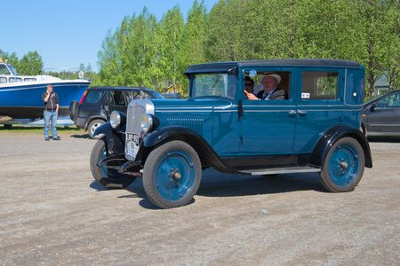 chevrolet: KERIMYAKI, FINLAND - JUNE 06, 2015: Car Chevrolet 1929 issue takes part in the parade of vintage cars