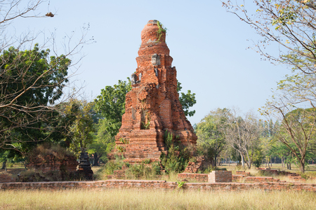 desolated: The medieval ruins of Wat Phong. Ayuthaya, Thailand