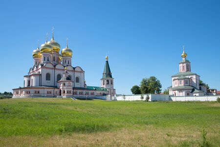 desolated: Sunny july day in Iversky Svyatogorsky Monastery. Nizhny Novgorod region, Russia
