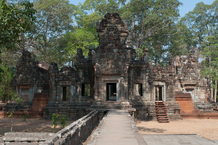 thom: The ancient Khmer temple in the complex of Angkor Thom. Cambodia