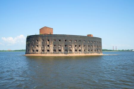 plague: Fort Emperor Alexander I (The Plague) in the gulf of Finland. Kronstadt, Russia