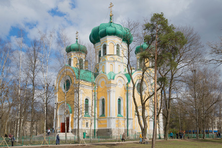 apostle paul: GATCHINA, RUSSIA - APRIL 24, 2016: View of the Cathedral of St. Paul, sunny april day. Gatchina Editorial