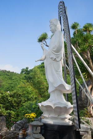 goddess of mercy: PHAN THIET, VIETNAM - JANUARY 05, 2016: Avalokitesvara bodhisattva (goddess of mercy) in the pagoda in the Marble mountains