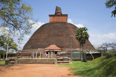 dagoba: ANURADHAPURA, THAILAND - MARCH 11, 2015: The Jetavana Dagoba in Anuradhapura. Religious landmark of the Anuradhapura, Sri Lanka Editorial