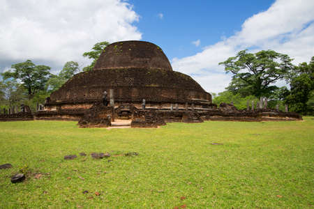 dagoba: The ruins of an ancient Dagoba in Polonnaruwa, Sri Lanka Stock Photo