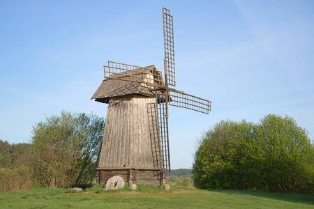 gory: Old windmill in the Mikhailovskoye, may morning. Pushkinskiye Gory