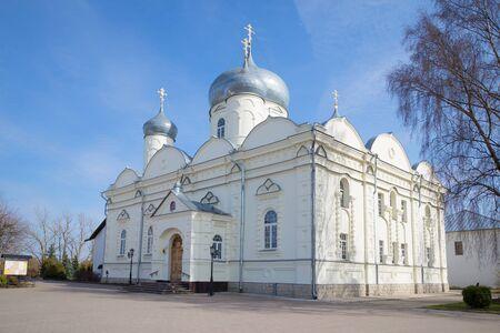 Pokrovsky Cathedral in the monastery in Veliky Novgorod, Russia