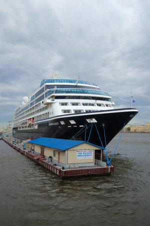 quest: SAINT PETERSBURG, RUSSIA - JUNE 18, 2016: A five-star cruise ship Azamara Quest in cloudy day Editorial