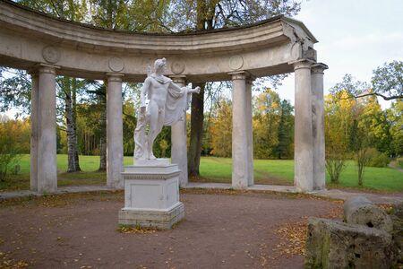 leningrad: October evening on the colonnade of Apollo. Pavlovsk, Russia