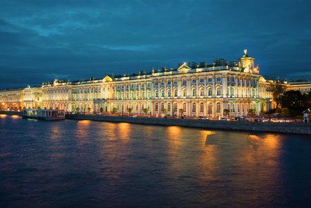 Uitzicht op het Paleis van de Winter, St. Petersburg, Rusland Redactioneel