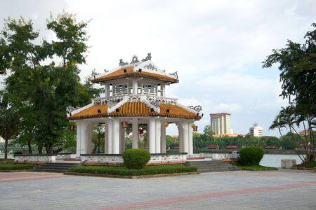 gazebo: Gazebo pagoda in city Park. Hue, Vietnam