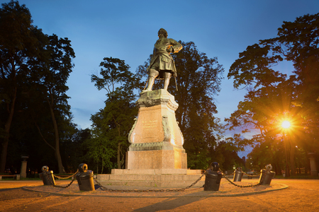 peter the great: Monument to Peter the great, july night. Kronshtadt, Russia