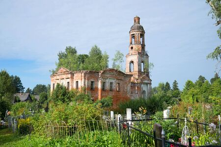 exaltation: Abandoned Church of the exaltation of the Holy cross in the village Chachkovo. Yaroslavl region, Russia
