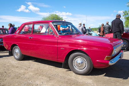 KERIMAKI, FINLAND - JUNE 06, 2015: Ford Taunus 12m (P6 generation) - the participant of parade of vintage cars in Kerimaki
