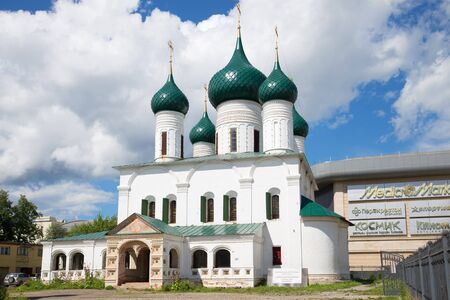 the ascension: YAROSLAVL, RUSSIA - JULY 10, 2016: The Church of the ascension cloud july afternoon