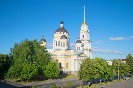 Spaso-Preobrazhenskiy Cathedral, a sunny day in july. Rybinsk, Russia