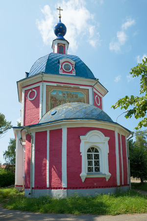 golden ring: Old Orthodox Church of the Holy Virgin (1789) sunny July afternoon. The Golden ring of Russia Stock Photo