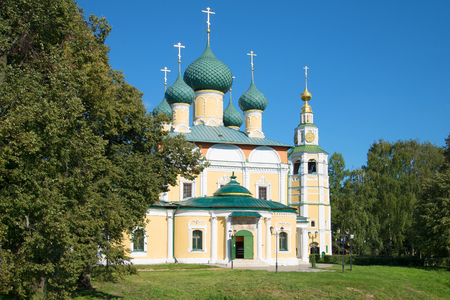 Sunny day in august from the Transfiguration Cathedral. Uglich, Golden Ring of Russia
