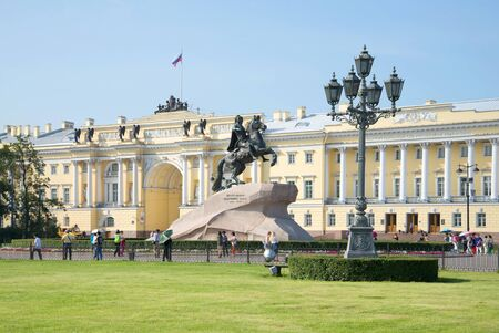 senate: SAINT PETERSBURG, RUSSIA - JULY 28, 2016: Sunny july day on the Senate square