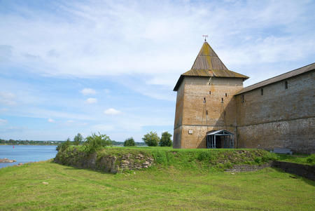 sovereign: Sovereign tower of the fortress Oreshek, sunny day in august. Shlisselburg, Russia