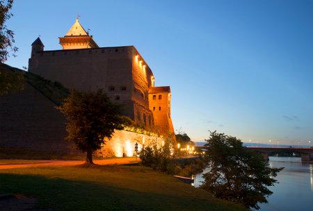 Summer night at the old castle of Herman. Narva, Estonia