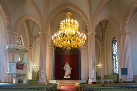 neogothic: The interior of the old Lutheran Church in Loviisa. Finland