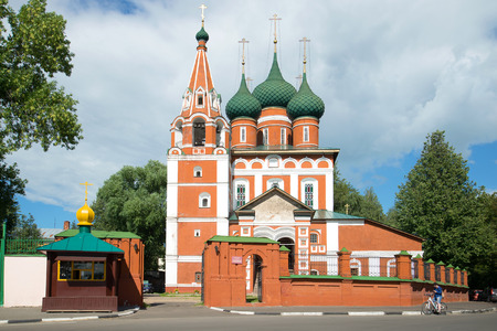 golden ring: YAROSLAVL, RUSSIA - JULY 10, 2016: the Church of Archangel Michael was a Sunny day in July. The Golden ring of Russia Editorial