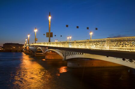 blagoveshchensky: The Blagoveshchensky bridge on a summer night. Saint Petersburg