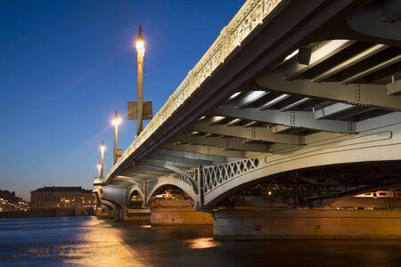 blagoveshchensky: Blagoveshchensky bridge in white night. Saint Petersburg, Russia
