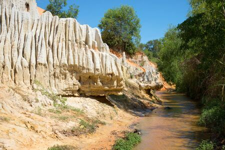Mainstream and the quirky side of the Creek Fairies Sunny day. The surroundings of Phan Thiet, Vietnam