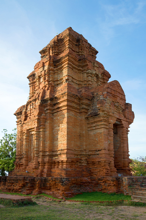 ions: One of the ancient Cham Towers Poshanu closeup. Phan Thiet, Vietnam