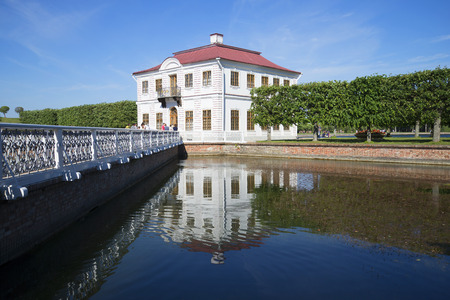 sectoral: SAINT PETERSBURG, RUSSIA - JULY 03, 2015: View of the Marly Palace from the pond sectoral, July day