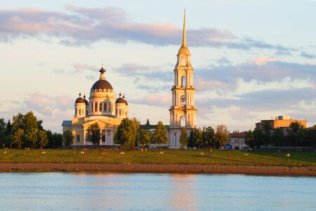 spassky: View of the Spaso-Preobrazhensky Cathedral July evening. Rybinsk, Russia