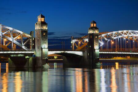 View divorcement of the bridge of Peter the Great. St. Petersburg