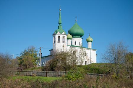 Church of John the Precursor on Malyshevaia hill sunny October day. Staraya Ladoga? Russia