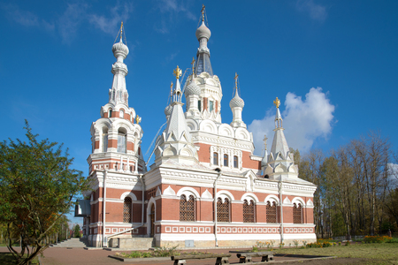 St. Nicholas Cathedral sunny October day. Pavlovsk, Russia