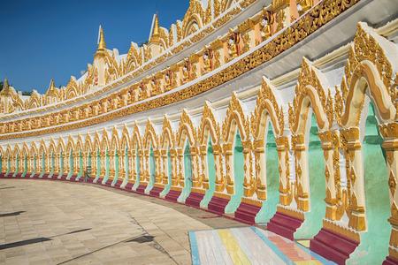 Gallery of a cave pagoda U Min Thonze Temple. Sagayn (neighborhood of the city of Mandalay), Myanmar
