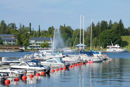 LAPPEENRANTA, FINLAND - AUGUST 21, 2016: Sunny August day in the city harbor Editorial
