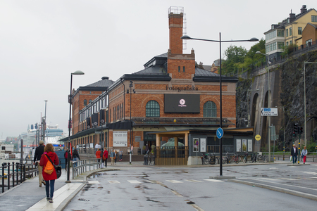 STOCKHOLM, SWEDEN - AUGUST 29, 2016: The Museum of Photography Fotografiska is a gloomy day Editorial