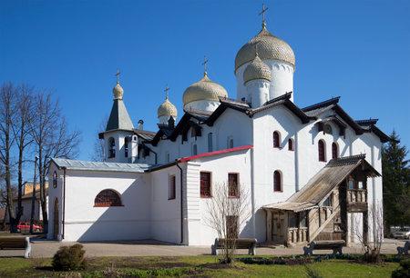 VELIKIY NOVGOROD, RUSSIA - APRIL 18, 2015: The old Church of Apostle Phillip and St. Nicholas
