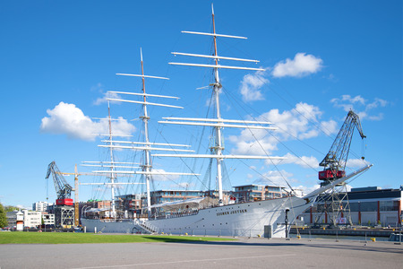 TURKU, FINLAND - AUGUST 27, 2016: Sailing ship Editorial