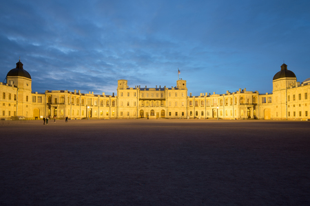 The Great Gatchina Palace in the May night. Gatchina, Russia