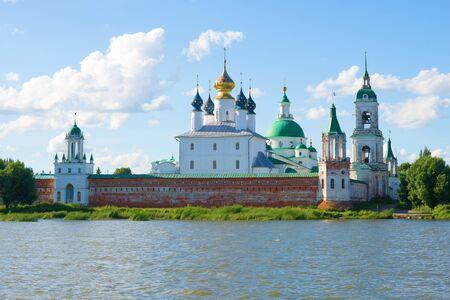 veliky: Spaso-Yakovlevsky Dmitrovsky Monastery on a July sunny evening. Rostov the Great, Golden Ring of Russia