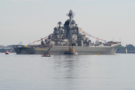 SAINT-PETERSBURG, RUSSIA - JULY 29, 2017: Heavy nuclear missile cruiser