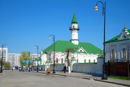 KAZAN, RUSSIA - MAY 02, 2016: Sunny May Day at the Al-Mardjani Mosque