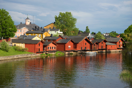 A June cloudy evening in the old town. Porvoo, Finland