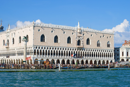 VENICE, ITALY - SEPTEMBER 26, 2017: View of the Doges Palace on a sunny day