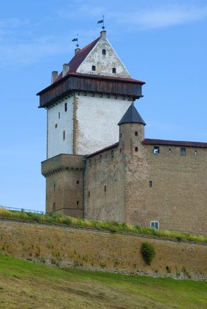 The Tower of Long Herman. Fragment of Narva castle, Estonia Editorial